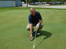 Jim Kisch from Passumpsic Savings Bank, the 2017 Putting Contest Winner