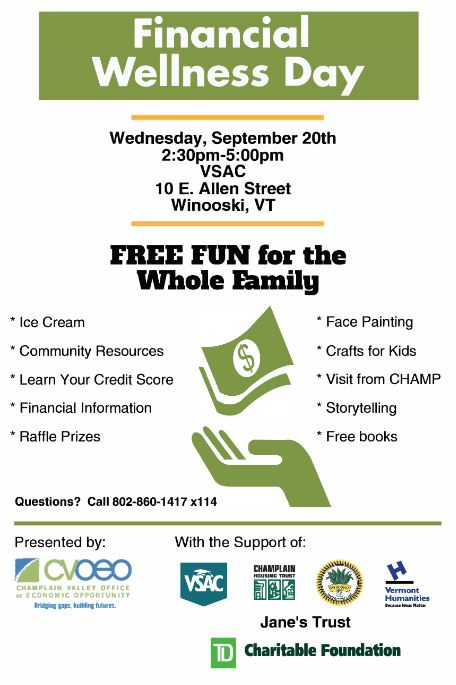 Jump$tart volunteers at 2nd Annual Financial Wellness Day on 9/20